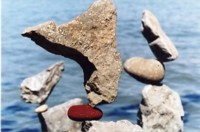 Three balanced stones
