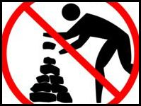 No rock stacking!