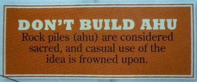 Don't build ahu